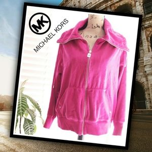 MICHAEL KORS Hot Pink Velour Jogger